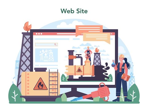 Online service of platform voor de aardolie-industrie. pumpjack-platform