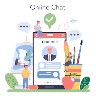 Online service of platform voor kunstacademie