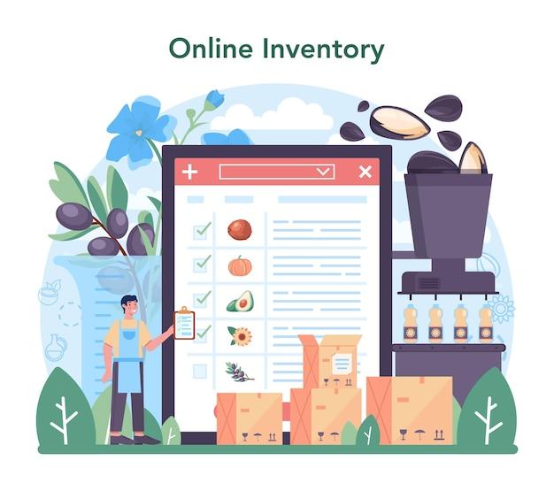 Online service of platform voor oliewinning of productie-industrie