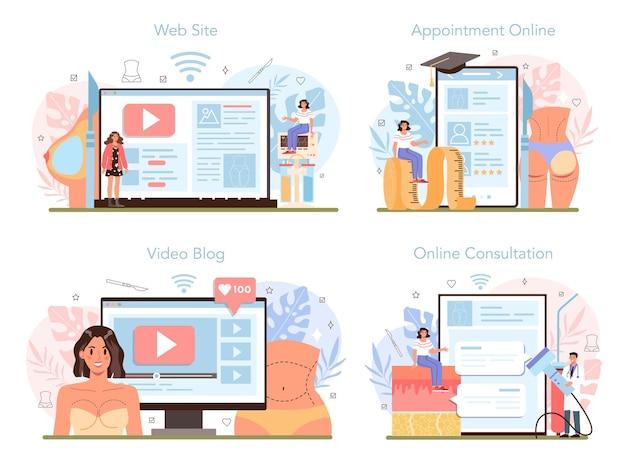 Online service of platformset voor plastische chirurgie