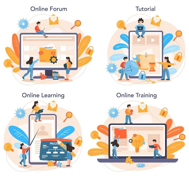 Online service of platformset voor projectbeheer