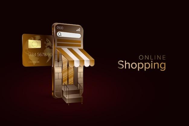 Online shoppen met een luxe design template