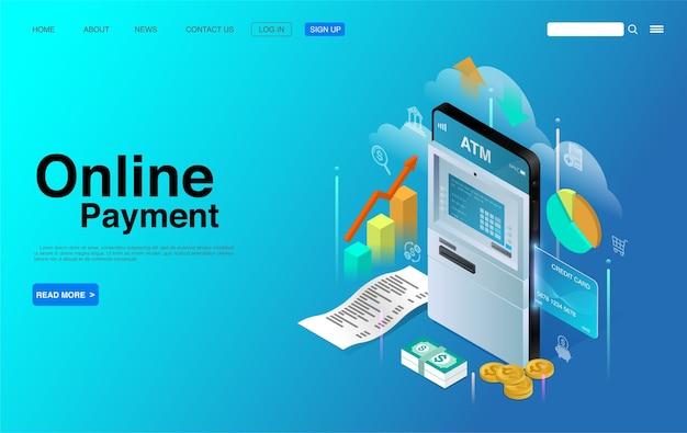Online smartphone-betalingsconcept