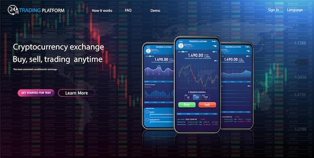 Online statistieken en gegevensanalyse digitale geldmarkt, investeringen, financiën en handel.