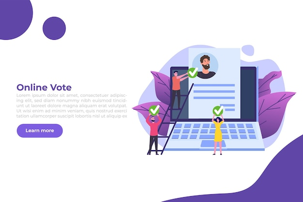 Online stemmen; elektronisch stemmen; verkiezing internet systeem sjabloon.