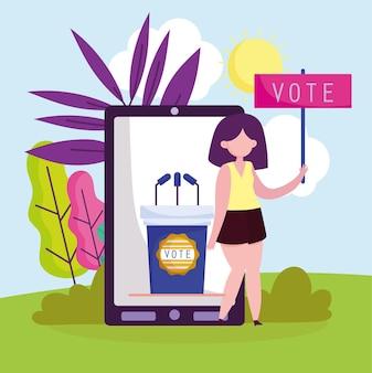 Online stemmen met telefoon