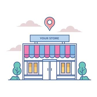 Online storefront-gebouw