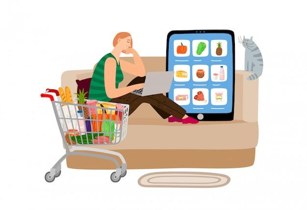Online supermarkt concept