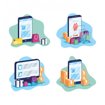 Online technologie winkelen in elektronische apparaten