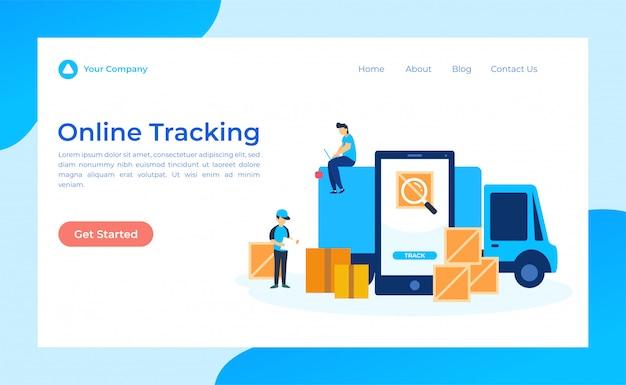 Online tracking-bestemmingspagina
