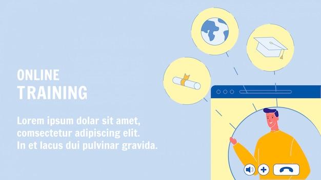 Online training webbannerlay-out met tekstruimte