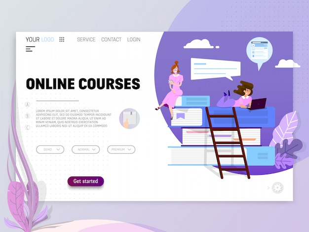 Online trainingsconcept