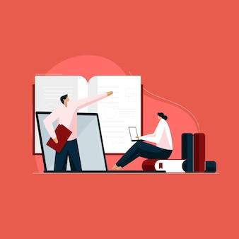 Online tutorials onderwijs en leren student luisteren webinar en lezing kijken