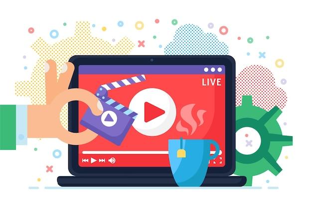 Online uitzending op computer