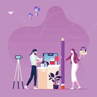 Online unboxing beoordeling van videoproducten