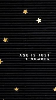 Online verjaardagswenssjabloon op zwarte achtergrond