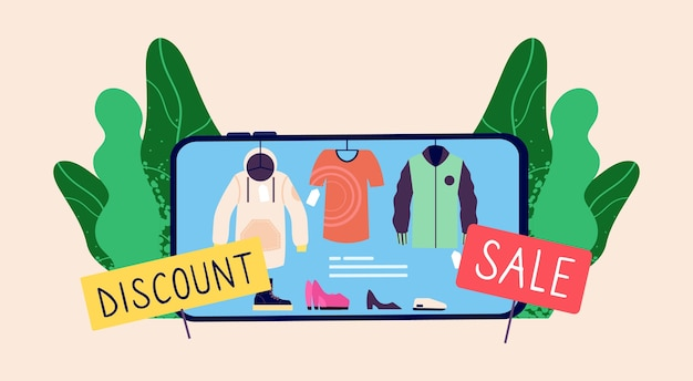 Online verkoop concept