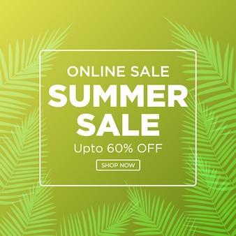 Online verkoop zomerverkoop bannerontwerp