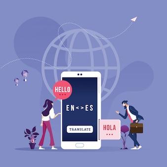 Online vertaler in mobiele telefoon