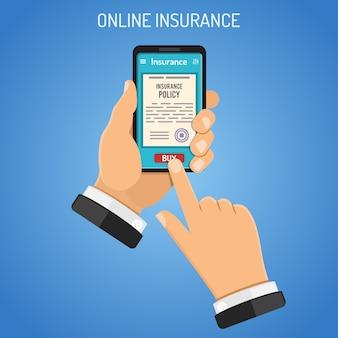 Online verzekeringsdiensten concept