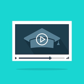 Online video-educatie of webinar videospeler