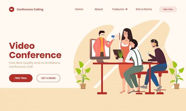 Online videoconferentieconcept