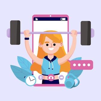 Online vrouwelijke personal trainer