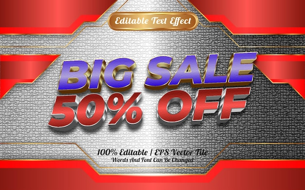 Online winkel grote verkoop bewerkbare teksteffect sjabloon stijl speciaal gelukkig nieuwjaar 2022