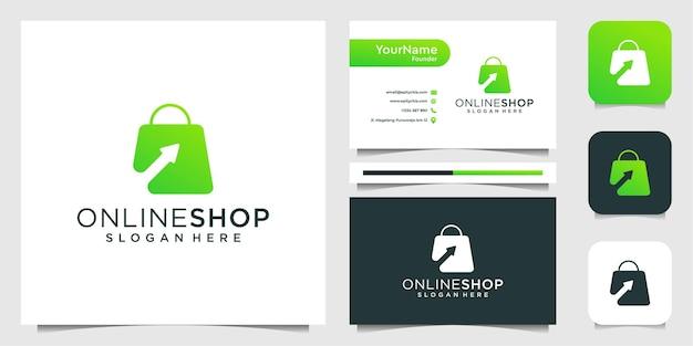 Online winkel inspiration logo design