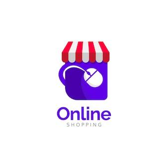 Online winkel logo ontwerpconcept