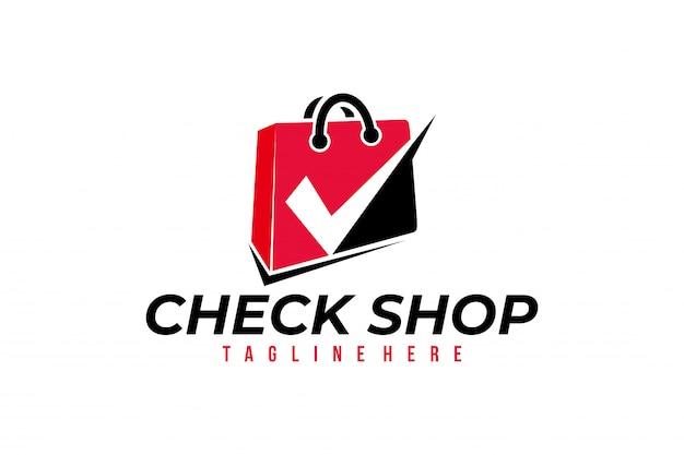 Online winkel logo vector geïsoleerd ontwerp