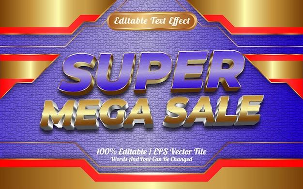 Online winkel super mega verkoop bewerkbare teksteffect sjabloon stijl speciaal gelukkig nieuwjaar 2022