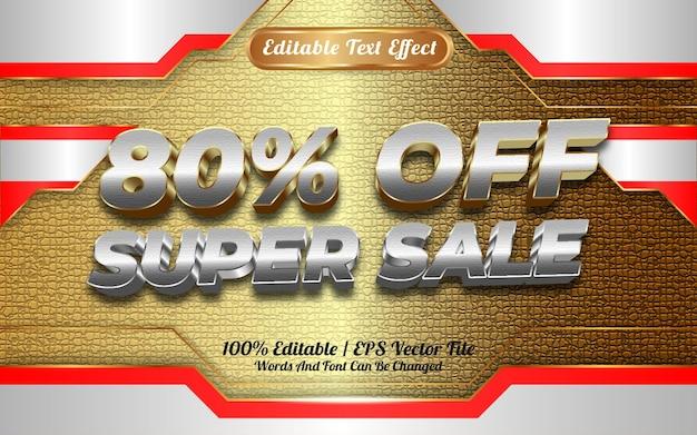 Online winkel super verkoop bewerkbare teksteffect sjabloon stijl speciaal gelukkig nieuwjaar 2022