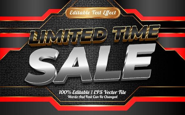 Online winkel tijdelijke verkoop bewerkbare teksteffect sjabloonstijl