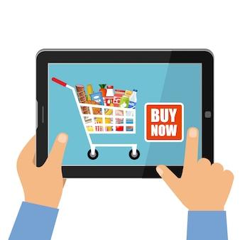Online winkel van voedselconcept
