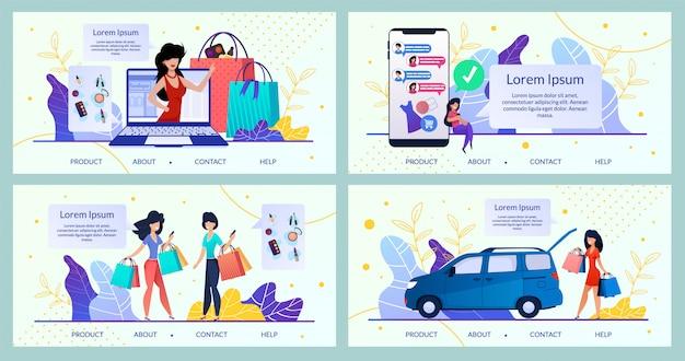 Online winkel voor damesartikelen, winkelwebsite