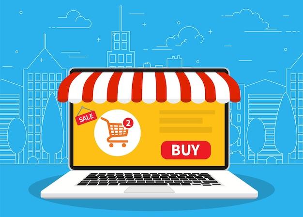 Online winkel. webwinkel.