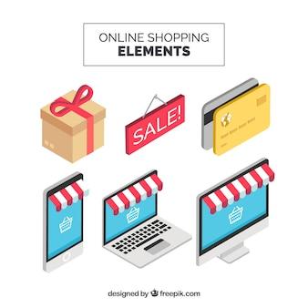 Online winkelelementen