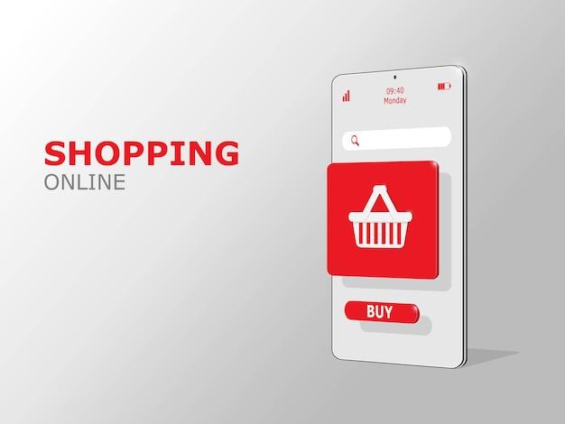 Online winkelen banner, mobiele app