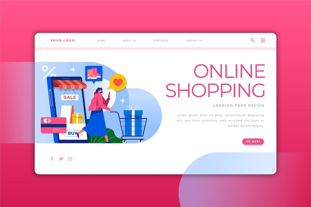 Online winkelen - bestemmingspagina