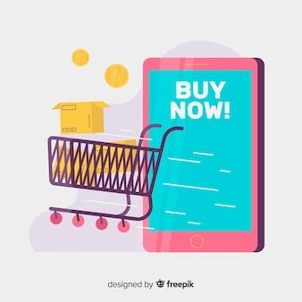 Online winkelen concept voor bestemmingspagina