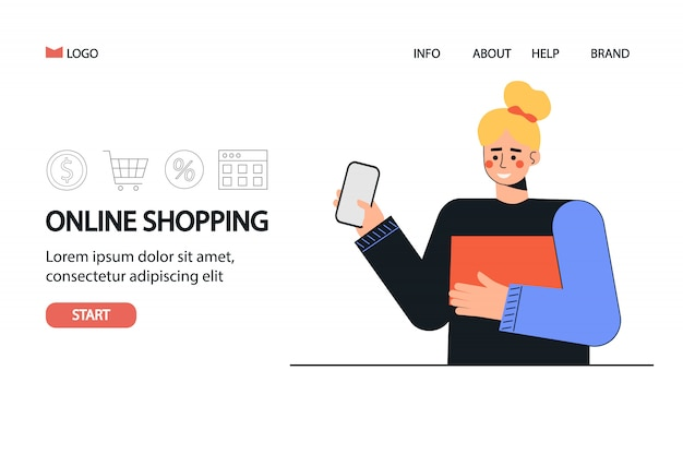 Online winkelen en betalen websjabloon