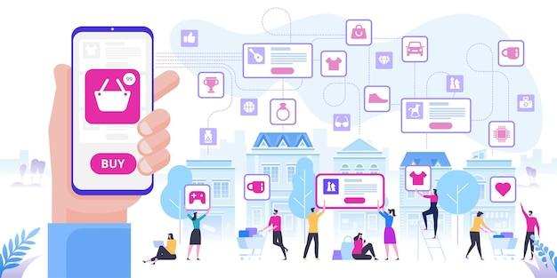 Online winkelen en levering van aankopen