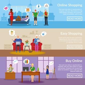 Online winkelen horizontale banners