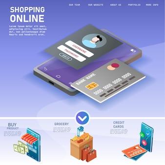 Online winkelen in mobiele winkel