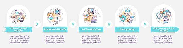 Online winkelen infographic sjabloon