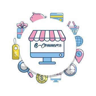 Online winkelen instellen voor marketing van e-commerce