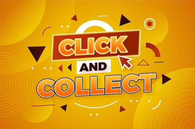 Online winkelen klik en verzamel teken