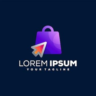 Online winkelen logo sjabloon