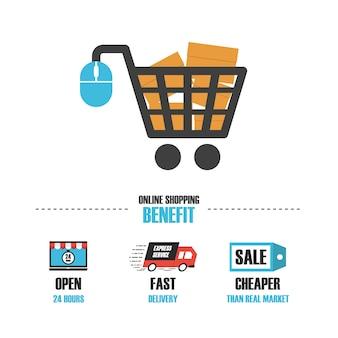 Online winkelen logo templates